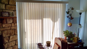 I also want to replace the blinds with blackout curtains