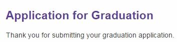 graduation application 2