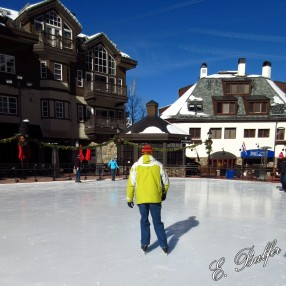 Ice skating in the middle of Beaver Creek Village!