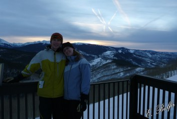 Dan and me, saying bye to Vail