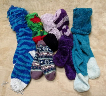 fuzzy socks signed
