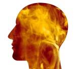 flames in head