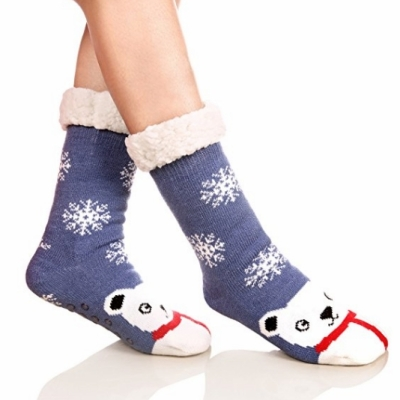 Women's Fuzzy Socks with Grip by DYW on Amazon