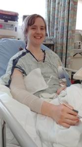 Lizz after surgery